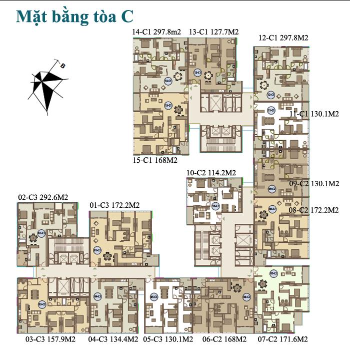 Chung cư Mandarin Garden - Trần Duy Hưng 【Bảng giá 09/2021】