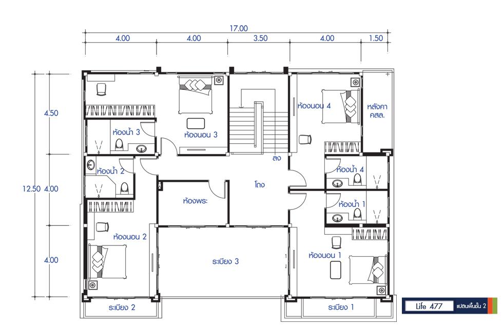 Mẫu nhà vuông 2 tầng đơn giản đẹp hút mắt
